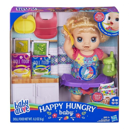 Baby Alive HAPPY HUNGRY BABY BLD CRL HAIR
